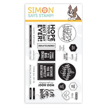 Simon Says Clear Stamps BIRTHDAY WORD MIX 1 sss102024