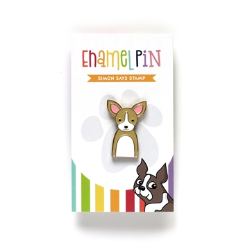 Simon Says Stamp CHIHUAHUA Enamel Pin EP1033
