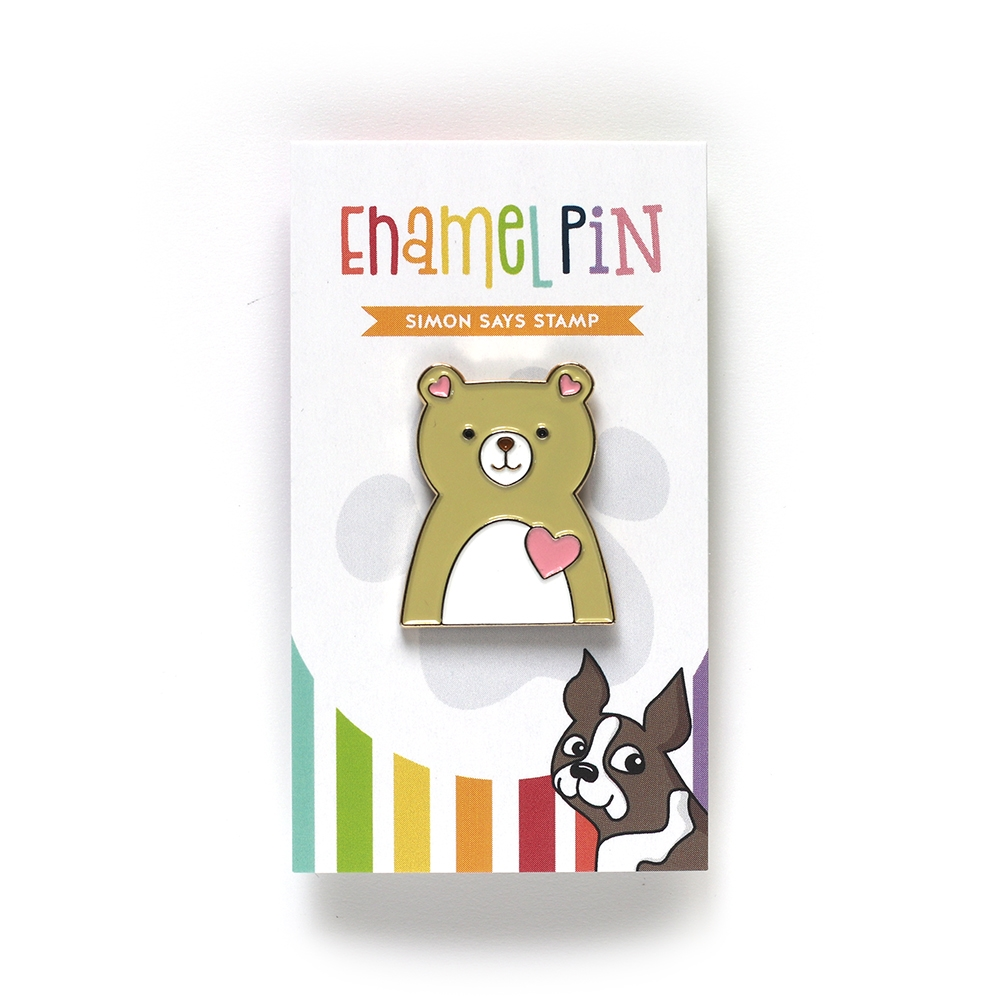 Simon Says Stamp LOVE BEAR Enamel Pin EP1025 zoom image