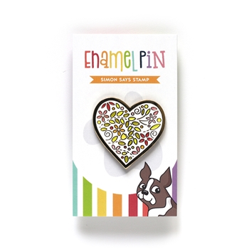Simon Says Stamp FILIGREE HEART Enamel Pin EP1029
