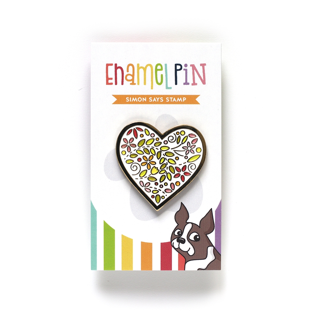 Simon Says Stamp FILIGREE HEART Enamel Pin EP1029 zoom image