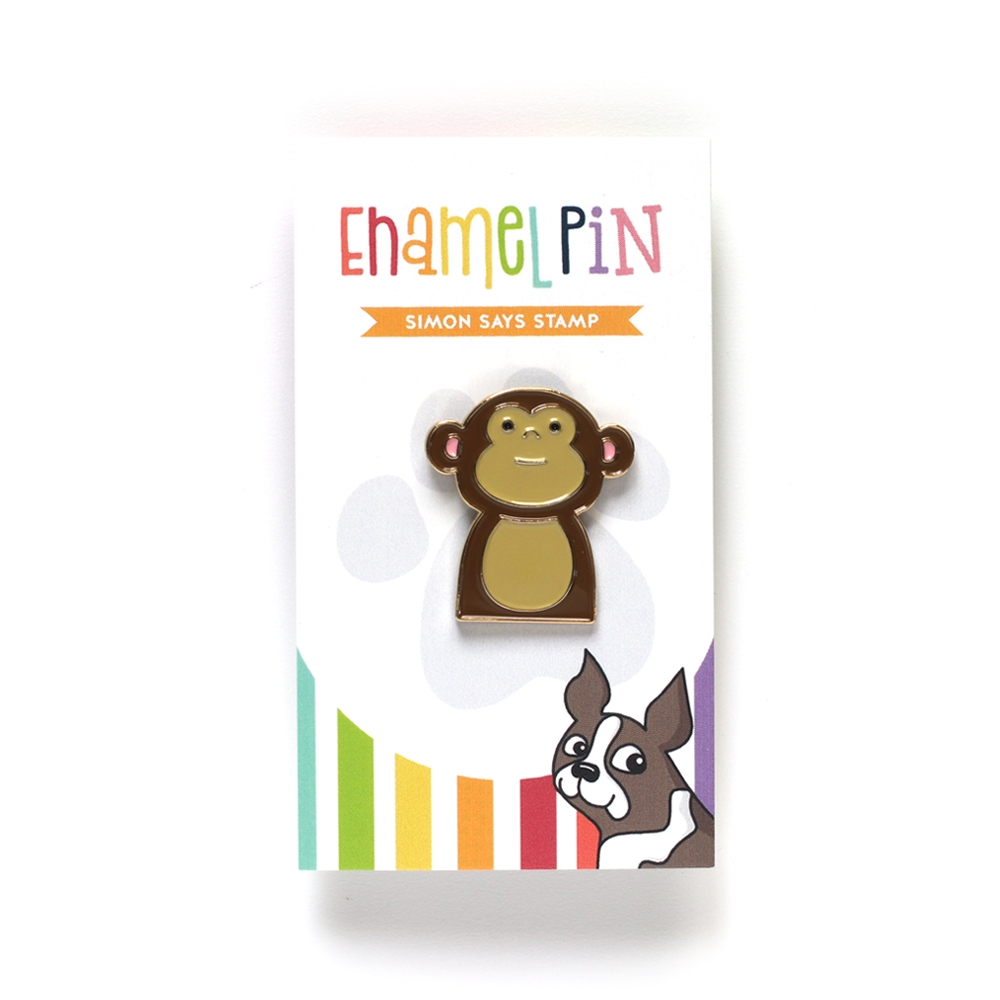 Simon Says Stamp MONKEY Enamel Pin EP1032 zoom image