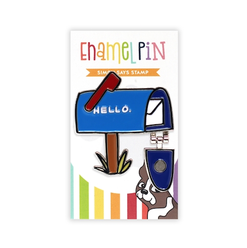 Simon Says Stamp MAILBOX HELLO Enamel Pin SSSpin14 zoom image