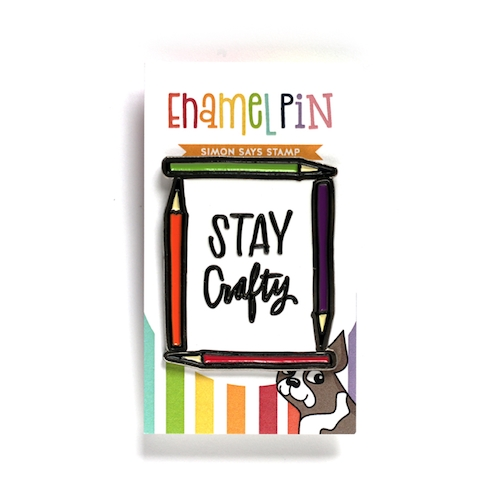 Simon Says Stamp STAY CRAFTY Enamel Pin SSSpin2 zoom image