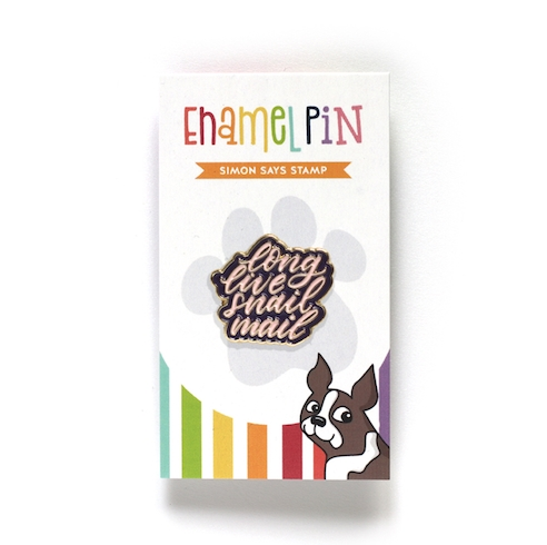 Simon Says Stamp LONG LIVE SNAIL MAIL Enamel Pin SSSpin6 STAMPtember 2019 Preview Image