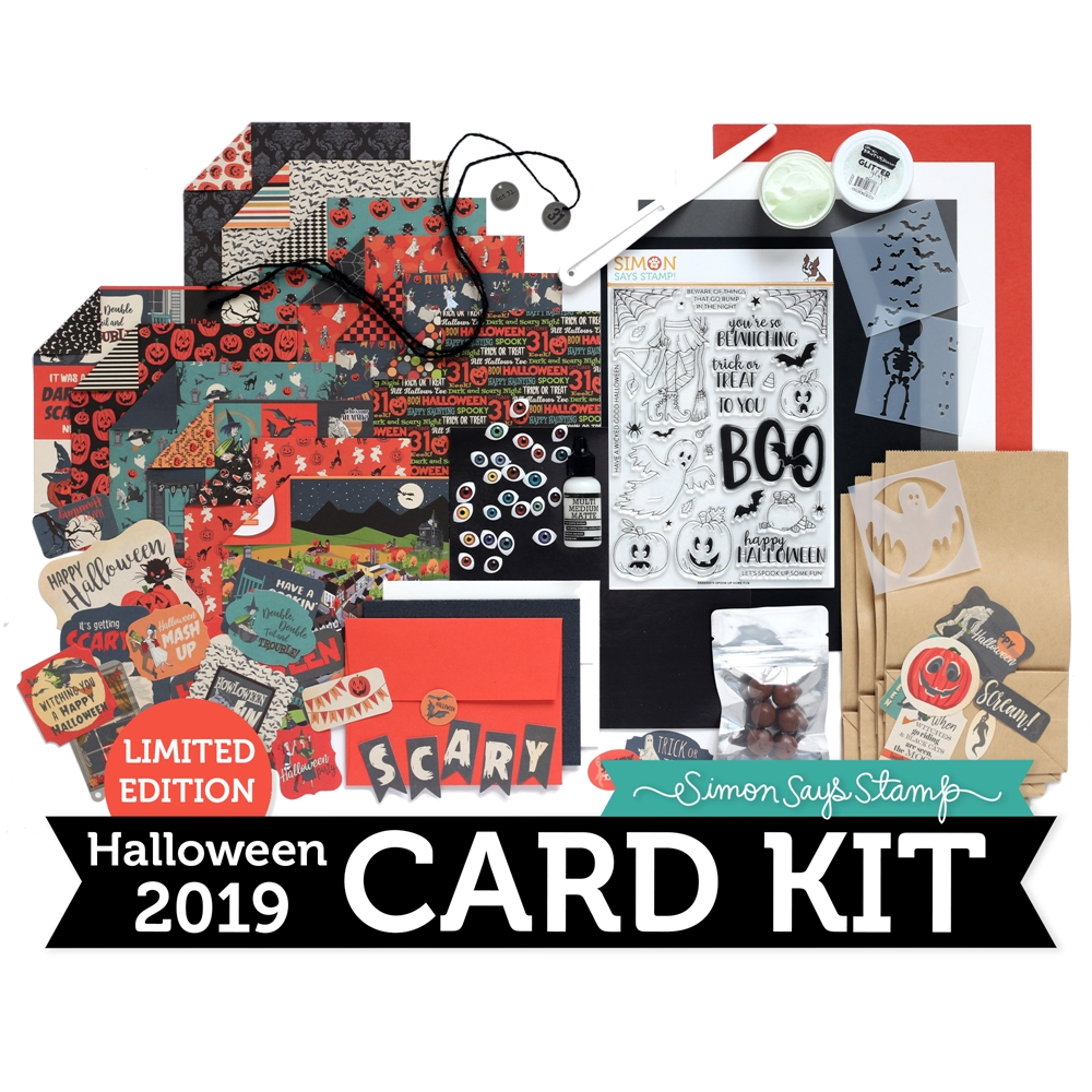 Limited Edition Simon Says Stamp Card Kit SPOOK UP SOME FUN Halloween SUSF19 zoom image