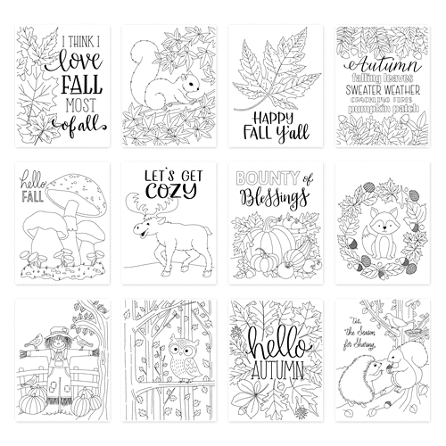 Simon Says Stamp Suzy's FALL CARDS Prints szfc0919 STAMPtember 2019 Preview Image
