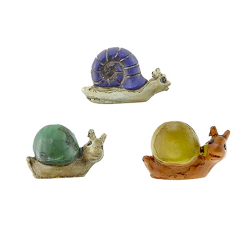 Darice MINI SNAIL FIGURINES Mini Accents 30050324