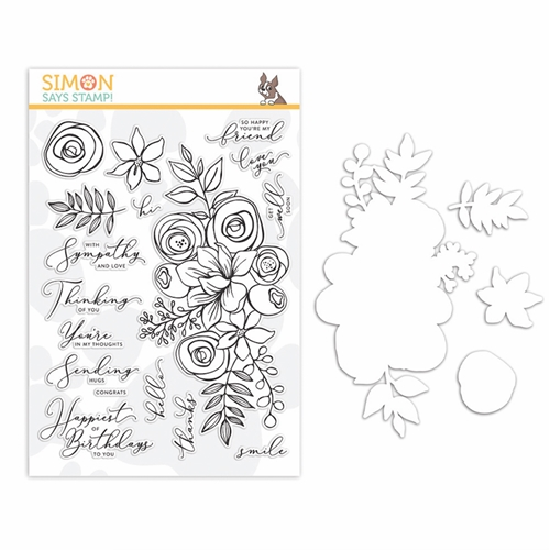 Simon Says Stamps and Dies SKETCHED FLOWERS set341sf Preview Image