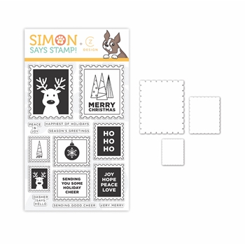 CZ Design Stamps and Dies HO HO POSTAGE set342hhp