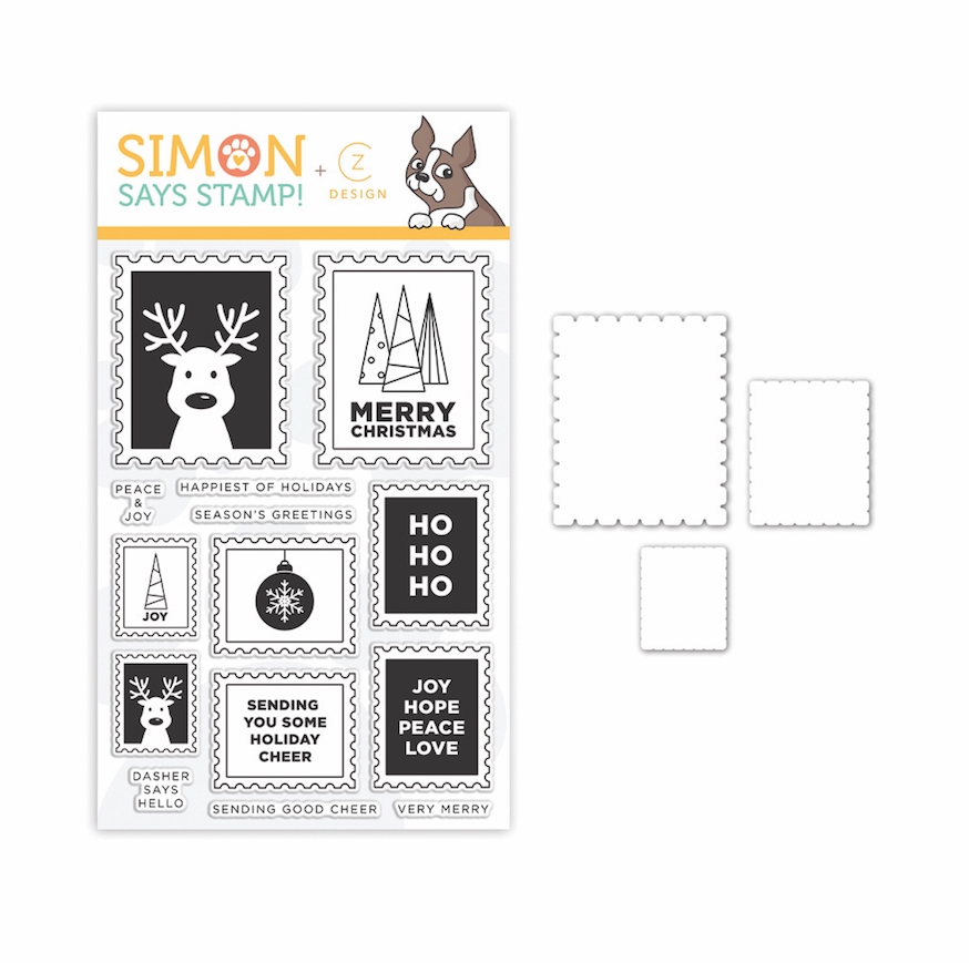 CZ Design Stamps and Dies HO HO POSTAGE set342hhp zoom image