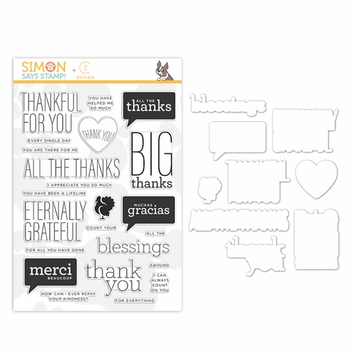 CZ Design Stamps And Dies ALL THE THANKS set348att Stamptember 2019 Preview Image