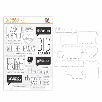 CZ Design Stamps And Dies ALL THE THANKS set348att Stamptember 2019