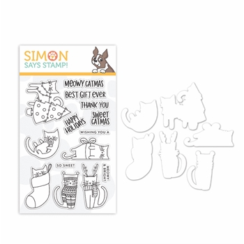 Simon Says Stamps And Dies MEOWY CATMAS set350mc