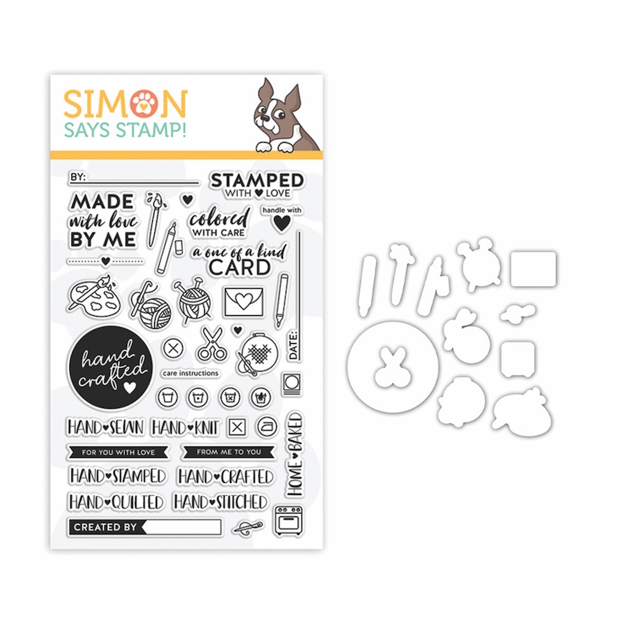 Simon Says Stamps And Dies HAND CRAFTED WITH LOVE set352hcl Stamptember 2019 zoom image