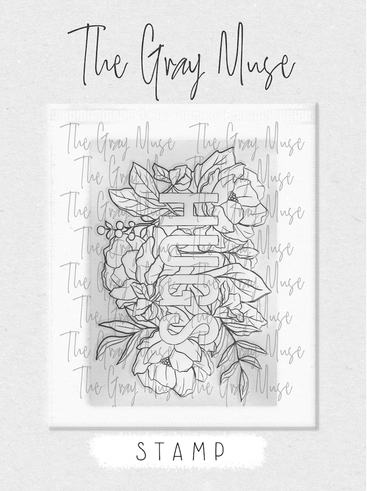 The Gray Muse HUGS Clear Stamp Set tgm-a19-ss2 zoom image
