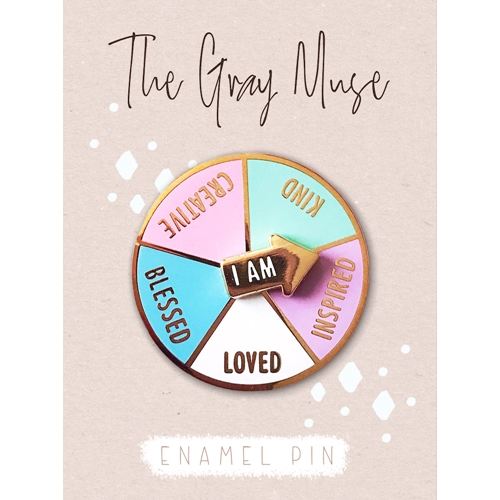 The Gray Muse I AM CREATIVE SPINNER Enamel Pin tgm-j19-p26 Preview Image
