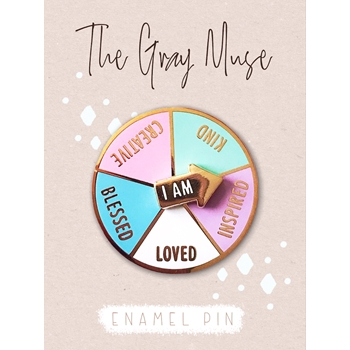 The Gray Muse I AM CREATIVE SPINNER Enamel Pin tgm-j19-p26