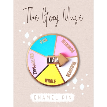 The Gray Muse I AM WILD SPINNER Enamel Pin tgm-j19-p27
