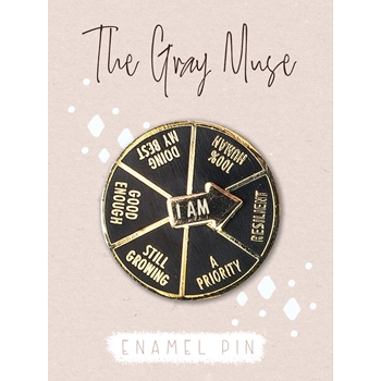The Gray Muse I AM DOING MY BEST SPINNER Enamel Pin tgm-j19-p28