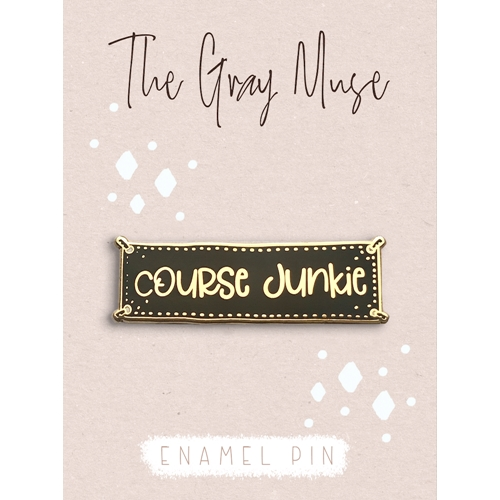 The Gray Muse COURSE JUNKIE Enamel Pin tgm-a19-p65* Preview Image