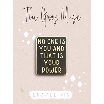 The Gray Muse YOUR POWER Enamel Pin tgm-a19-p66