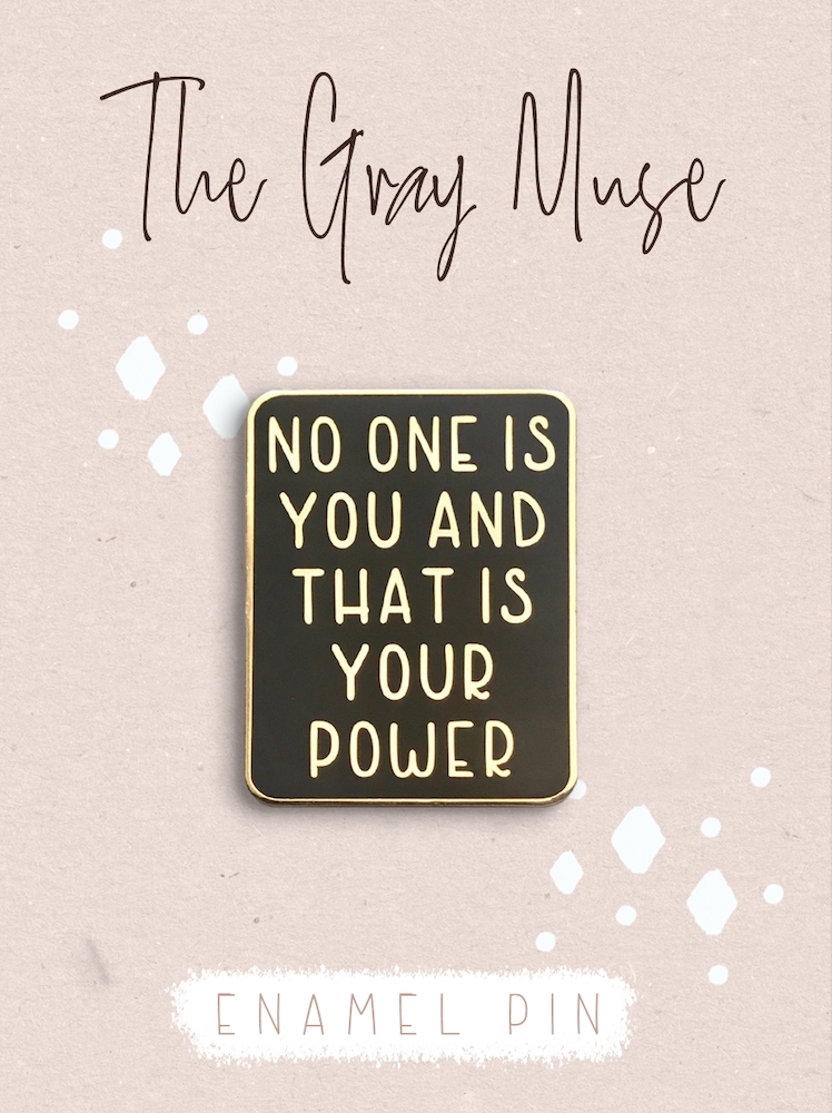 The Gray Muse YOUR POWER Enamel Pin tgm-a19-p66 zoom image