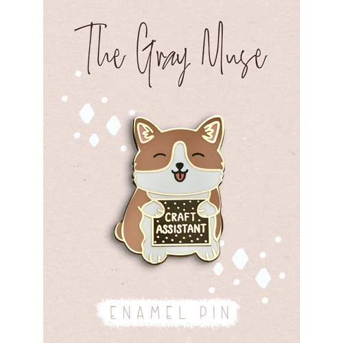 The Gray Muse THE CRAFT ASSISTANT PUPPY Enamel Pin tgm-a19-p63 Preview Image