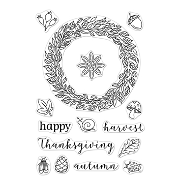 Hero Arts Clear Stamps AUTUMN WREATH CM397
