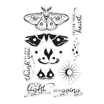 Hero Arts Clear Stamps COLOR LAYERING MOTH CM393
