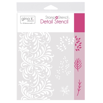 Therm O Web Gina K Designs AUTUMN WISHES Detail Stencil 18143