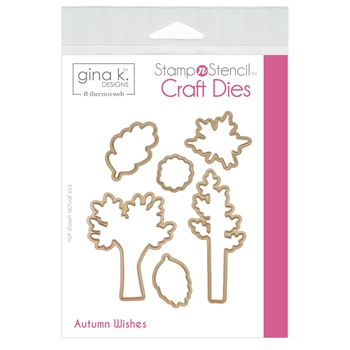 Therm O Web Gina K Designs AUTUMN WISHES Craft Dies 18147*