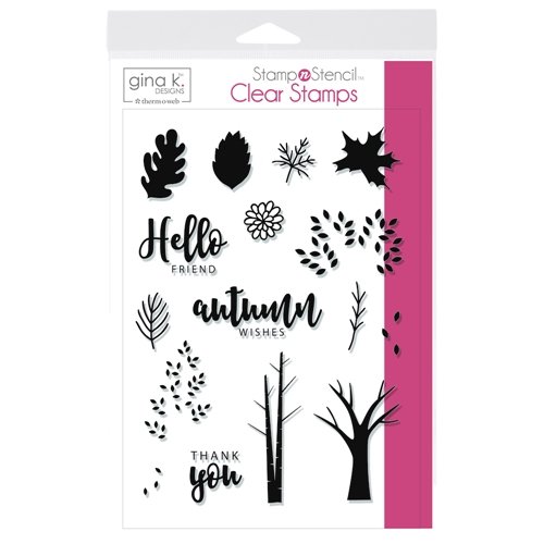 Therm O Web Gina K Designs AUTUMN WISHES Clear Stamps 18145 Preview Image