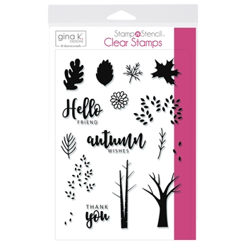 Therm O Web Gina K Designs AUTUMN WISHES Clear Stamps 18145*