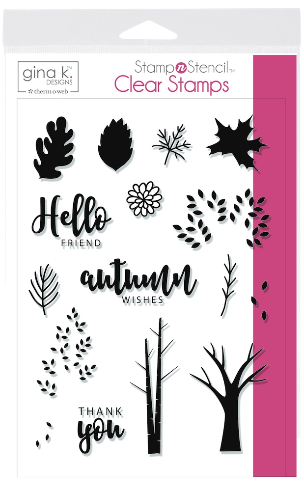 Therm O Web Gina K Designs AUTUMN WISHES Clear Stamps 18145 zoom image