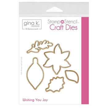 Therm O Web Gina K Designs WISHING YOU JOY Craft Dies 18148