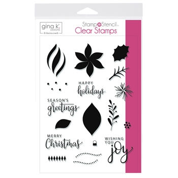 Therm O Web Gina K Designs WISHING YOU JOY Clear Stamps 18146