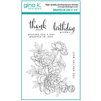 Gina K Designs WRAPPED IN LOVE Clear Stamps 0770