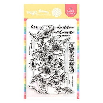 Waffle Flower POPPY HAWTHORN Clear Stamps 271268
