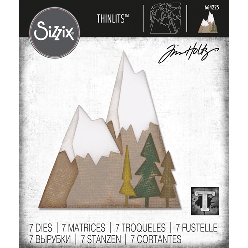 Tim Holtz Sizzix ALPINE Thinlits Dies 664225 Preview Image