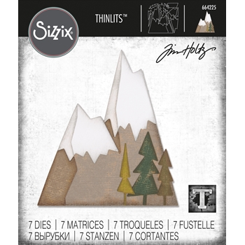 Tim Holtz Sizzix ALPINE Thinlits Dies 664225