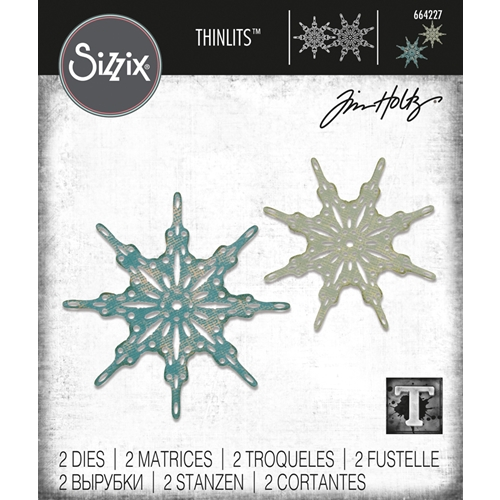 Tim Holtz Sizzix FANCIFUL SNOWFLAKES Thinlits Dies 664227 Preview Image