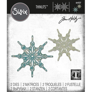 Tim Holtz Sizzix FANCIFUL SNOWFLAKES Thinlits Dies 664227