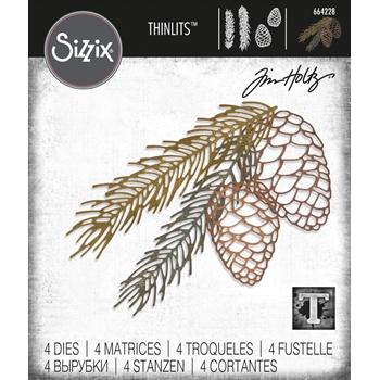 Tim Holtz Sizzix PINE BRANCH Thinlits Dies 664228
