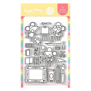 Waffle Flower LITTLE ARTIST Clear Stamps 271272