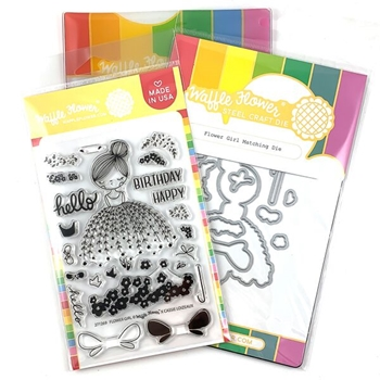 Waffle Flower FLOWER GIRL Clear Stamp and Die Combo WFC269
