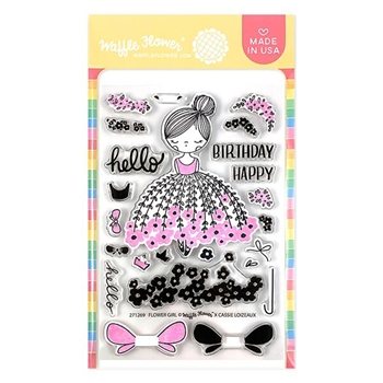 Waffle Flower FLOWER GIRL Clear Stamps 271269