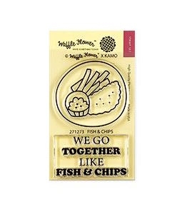 Waffle Flower FISH AND CHIPS Clear Stamps 271273