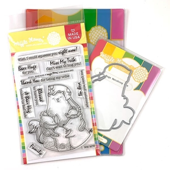 Waffle Flower BEAR HUGS Clear Stamp and Die Combo WFC271