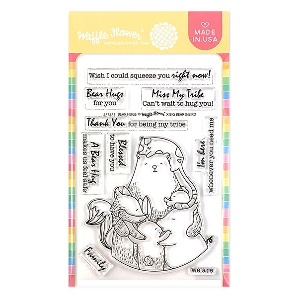 Waffle Flower BEAR HUGS Clear Stamps 271271 zoom image